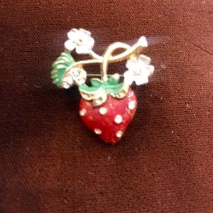 Strawberry vintage pin